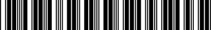 Barcode for DRG007279
